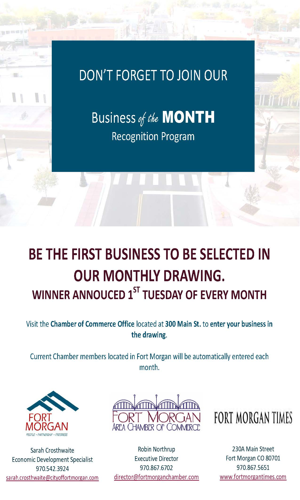 Business of the Month Recognition Program- Flyer 2ND POST