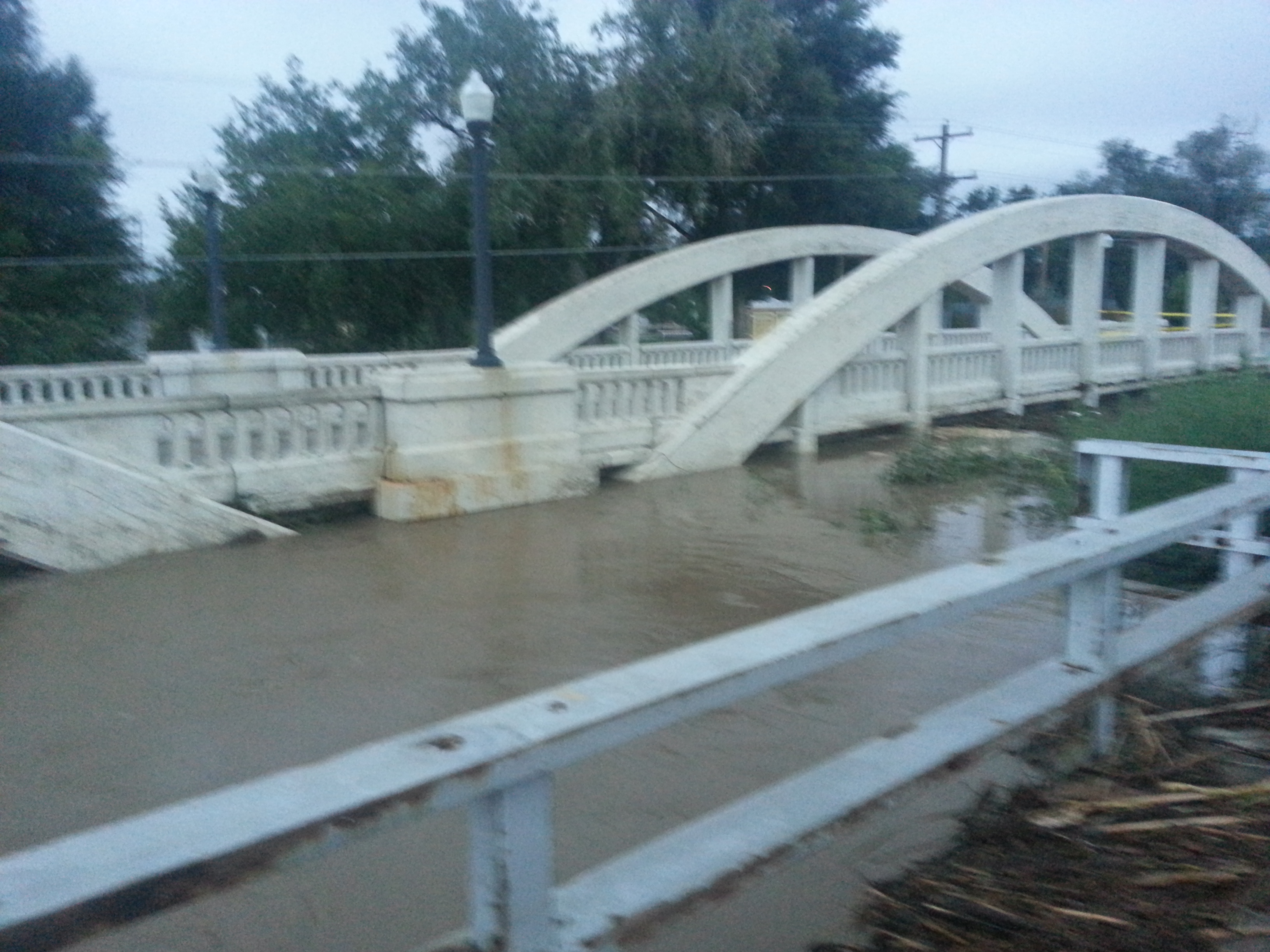 Water up to bridge decks