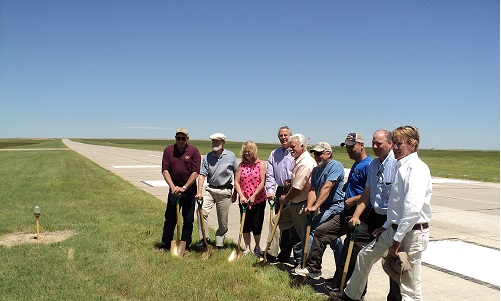 Runway Groundbreaking 2014 - 2